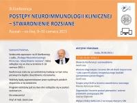"""XI Konferencja """"Postępy Neuroimmunologii Klinicznej - Stwardnienie rozsiane"""""""
